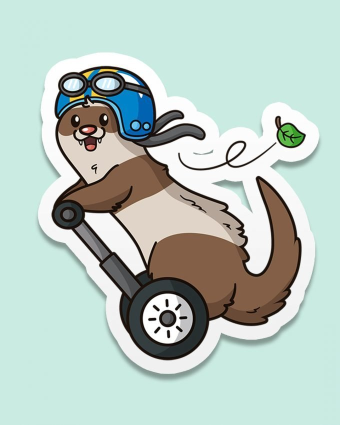 ferret emoji scooter