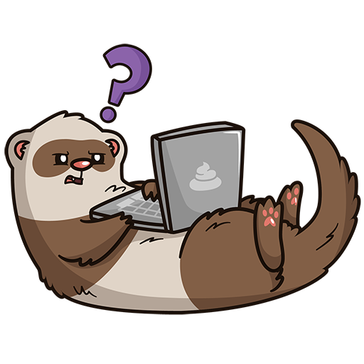 ferret cartoon computer