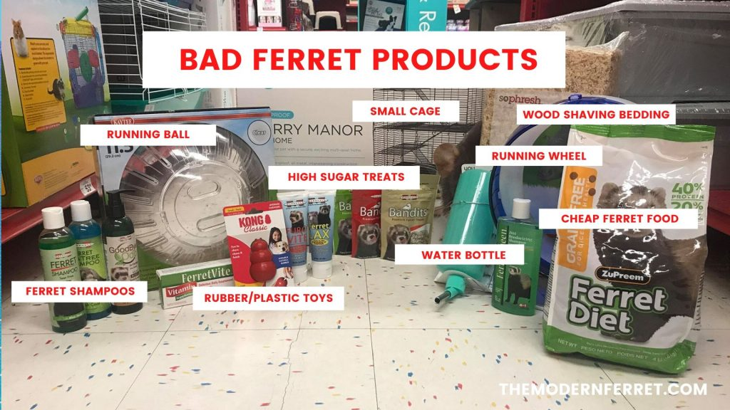 new ferret petco bad supplies products
